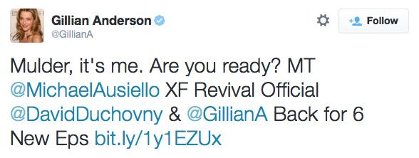 Gillian Anderson's tweet